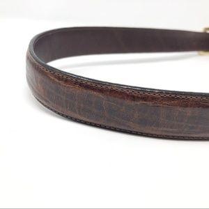 BRIGHTON Vintage Leather Waist Belt Gold Hardware